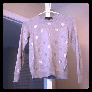 Silver polka dot sweater
